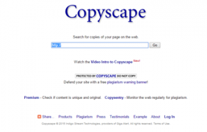 Copyscape Interface