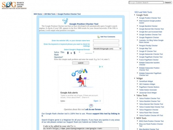 Search Engine Genie Review