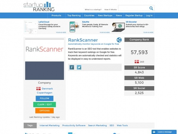 Startup Ranking Review